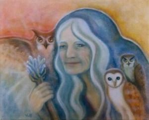 Owl Crone - copyright Bernadette Wulf