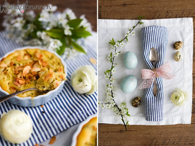 Rhabarber-Clafoutis - - Wunderbrunnen - Foodblog - Fotografie