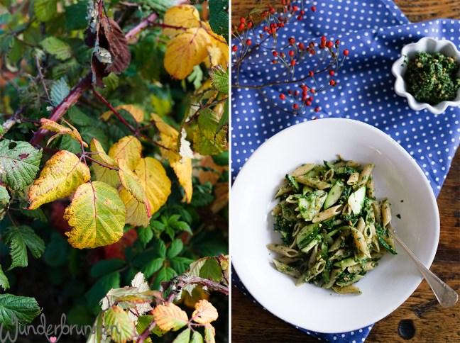 Petersilienpesto mit Penne und gebratener Zucchini - Wunderbrunnen - Foodblog - Fotografie