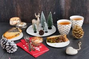 Mohn-Guglhupf und Weihnachtsgeschirr von ediths - Wunderbrunnen - Foodblog - Fotografie