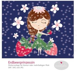 Plotter Datei Erdbeer Prinzessin