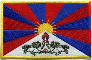 Flagge Tibets - Aufnäher 15cm x 10cm