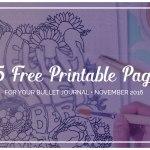 Free Printable November Bullet Journal SetUp