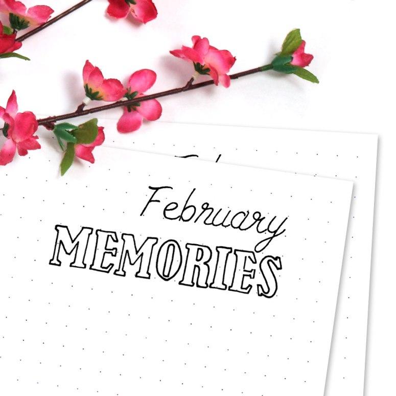 Free Bullet Journal Printables Kit • Memories Doodle Page February 2017 - Wundertastisch Design