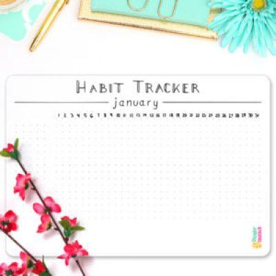Minimalism Habit Tracker Bundle