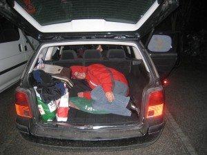 Gotti im Kofferraum