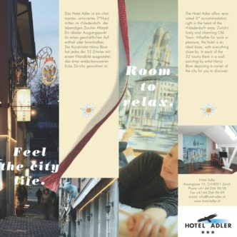 Hotel-Gastronomie: Sammelprospekt Hotels with a bookmark. Hotel Adler