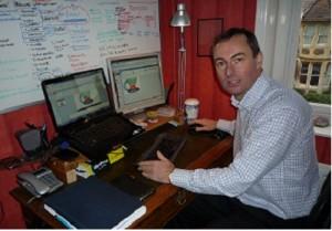 Mark Stonham at work