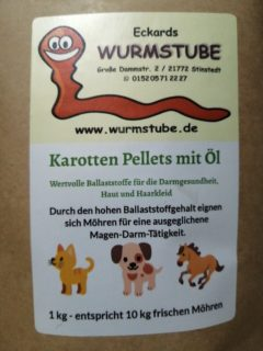 Karotten-Pellets www.wurmstube.de