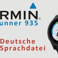 Garmin Forerunner 935 – deutsche Sprache fehlt