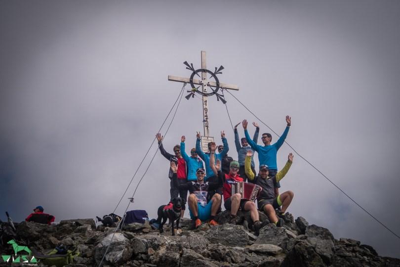 Der Alpenverein Werfen am Keeskopf Gipfel in der Schobergruppe