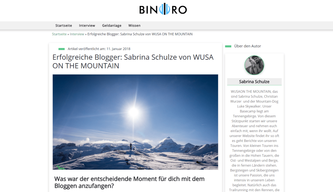 Interview mit binoro.de