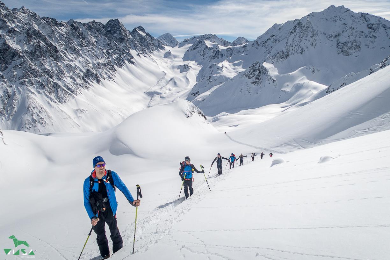 Aufstieg zur Schöntalspitze.