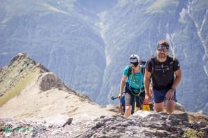 Wir erreichen den Gipfel des Hinteren Sajatkopf (3098m).