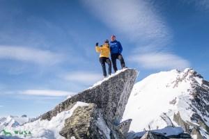 Gipfel Wagnerschneidspitze (2898m) am 16.03.2019