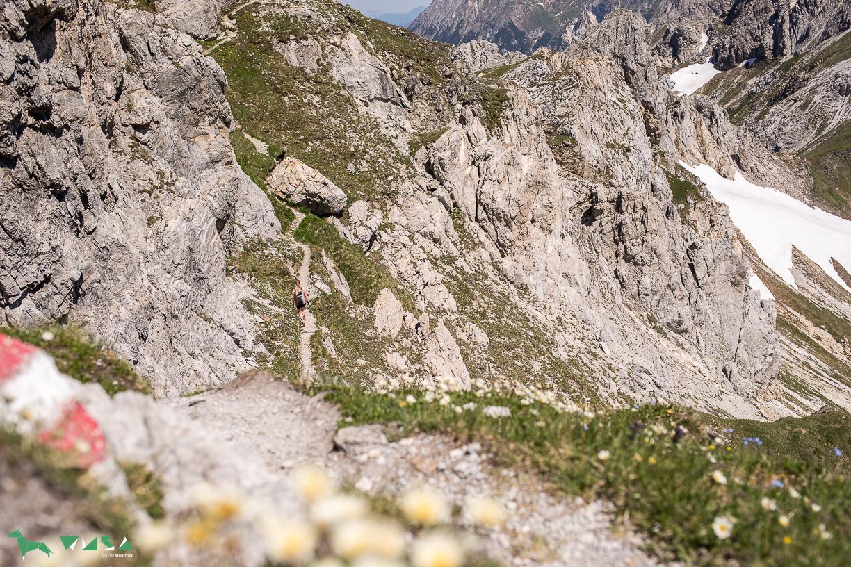 Trail zum Weißgrubenkopf.
