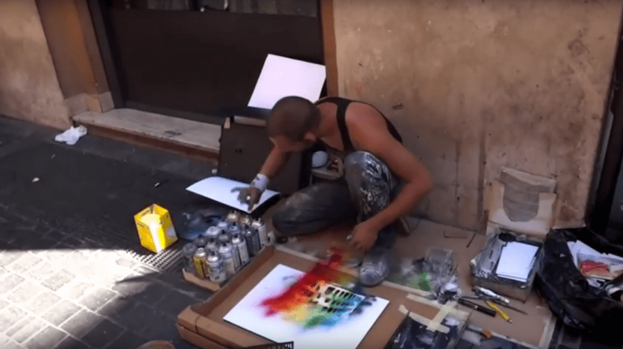 Amazing Street Artist – Amazing Street Art Painting – Spray Paint Art