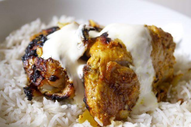 mild, spice, chicken, frugal, easy, gluten free, yoghurt, simple, tender, recipe