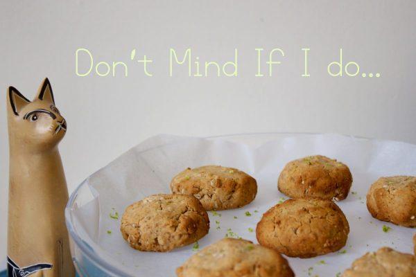 Gluten Free, Honey , Oat, Almond, Butter,Cookies,Lime Zest