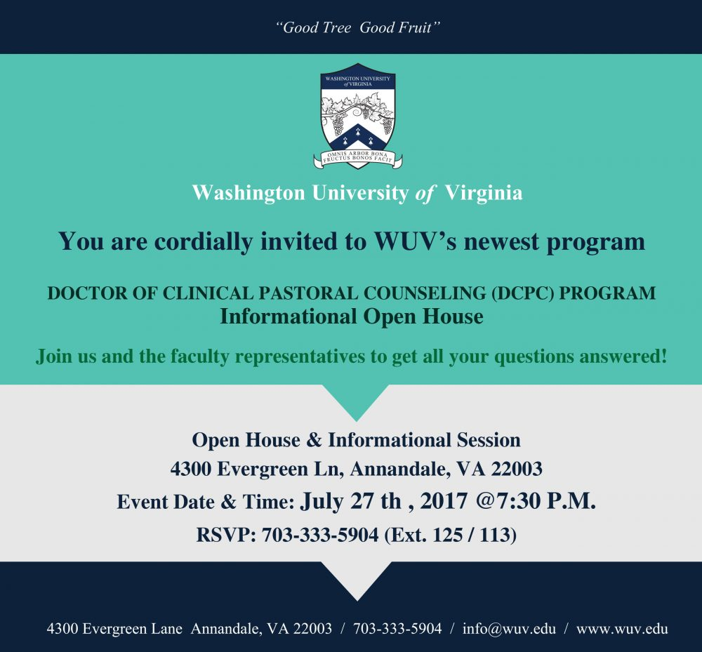 DOCTOR OF CLINICAL PASTORAL COUNSELING (DCPC) PROGRAM  Informational Open House