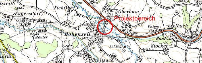 Karte Hochwasserschutz Hohenzell