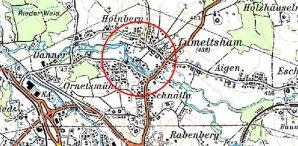 Karte HWS Tumeltsham