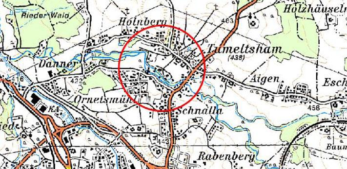 Karte Hochwasserschutz Tumeltsham