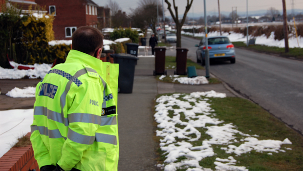 Officers attend the speed watch with volunteers.