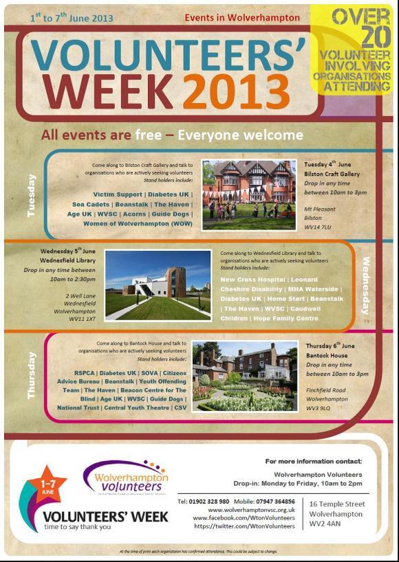 Volunteers' Week 2013