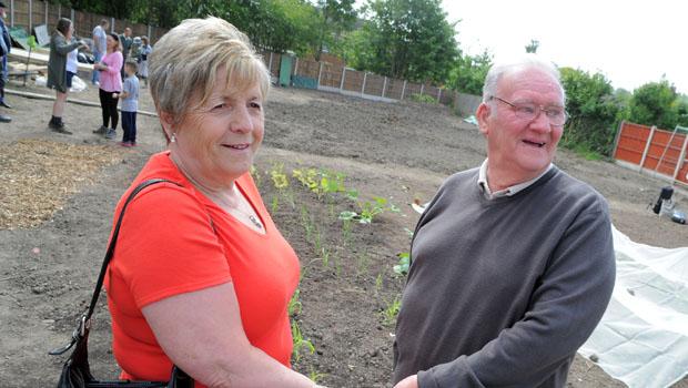 Residents Ann and Derek seem to be enjoying the garden!
