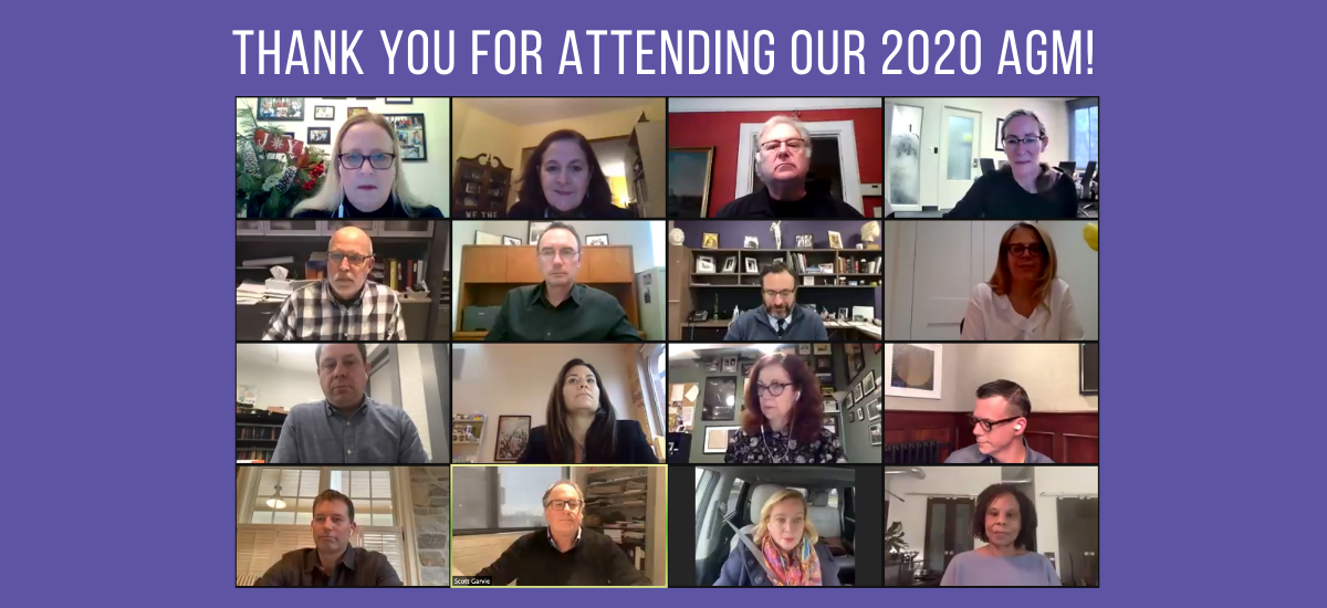 Thank Your for Attending Our 2020 AGM!