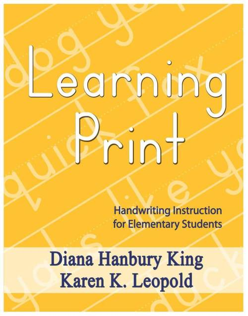 Learning Print - Handwriting for the Elementary Students