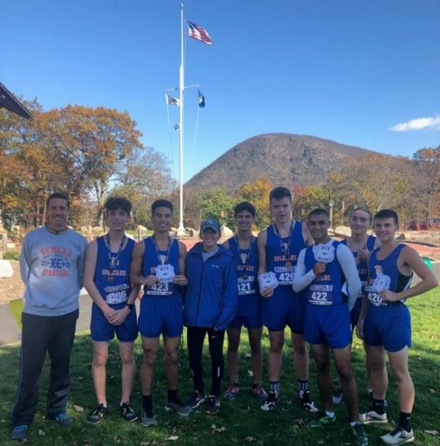 The S.S. Institute Boys Cross Country Team won the Section IX Title beating Eldred, Millbrook, & Livingston Manor. Photo provided.