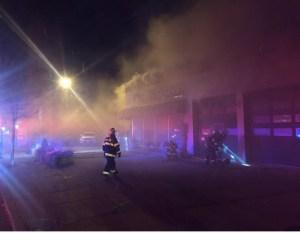 Warwick Autobody Fire