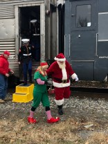 Several US Marines accompanied Santa & Mrs. Claus visit Warwick on Sun., Dec. 1. The US Marine Corps sponsors Toys for Tots every holiday season. Photo credit: Warwick Valley Dispatch/Sara Paul