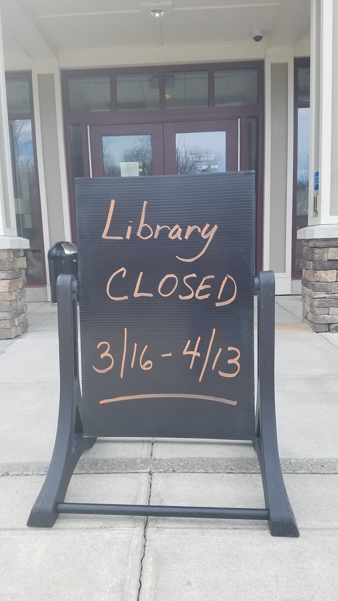 Albert Wisner Library Closed