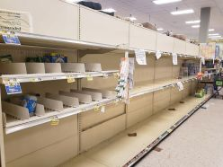 Toilet paper was completely sold out at the Warwick ShopRite & in other stores throughout the community. Shoppers bought unusually high amounts of the paper goods after learning of the spread of the COVID-19. Photo credit: Warwick Valley Dispatch/Lourice Angie
