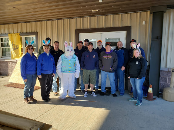 The Pine Island Recreation Department, Pine Island Fire Dept. & Pine Island Ambulance, the Easter Bunny drove through the streets of Pine Island on Sat., Apr. 11. Photo provided.