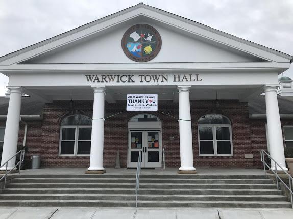 Warwick Town Hall Tribute to Esstenial Workers