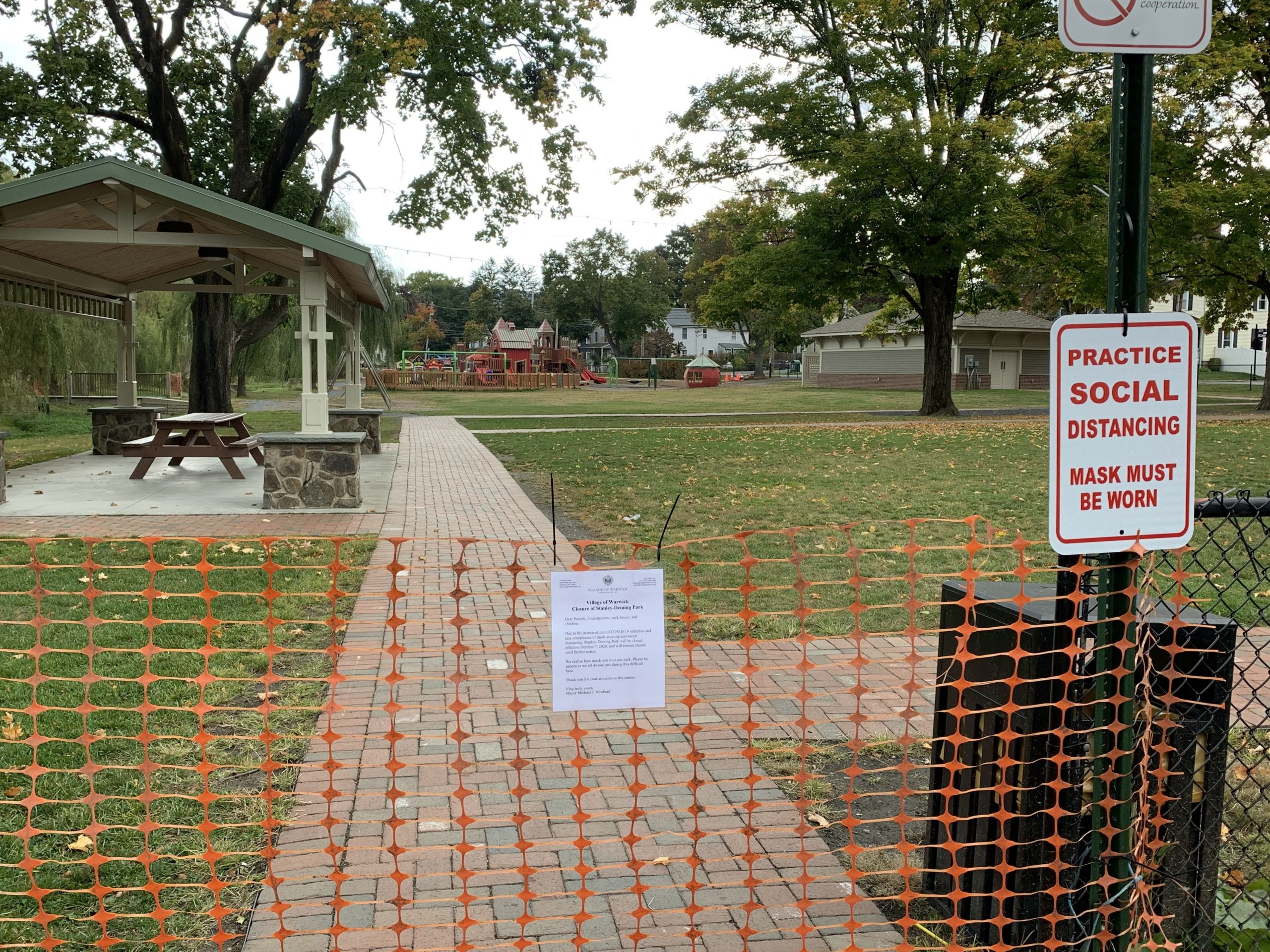 tanley-Deming Park Closure
