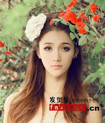 瓜子臉適合的長髮捲髮髮型 唯美浪漫溫婉淑女范_女生髮型_髮型網_2020髮型網