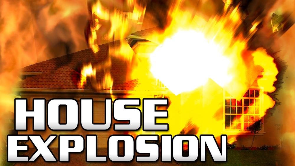 Explosion Damages Residence