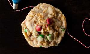 Chewy M&M Oatmeal Cookies