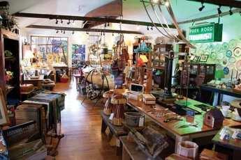 Inside a rustic store