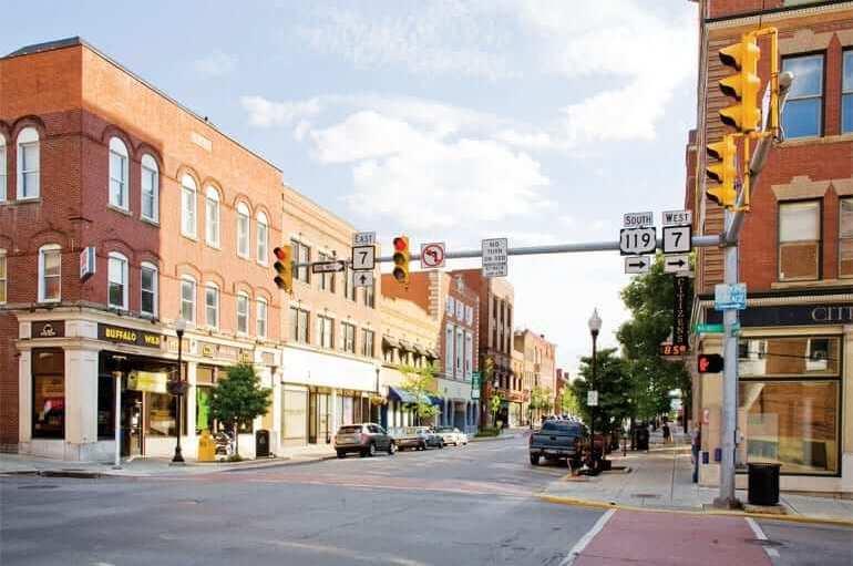Downtown Morgantown on High Street