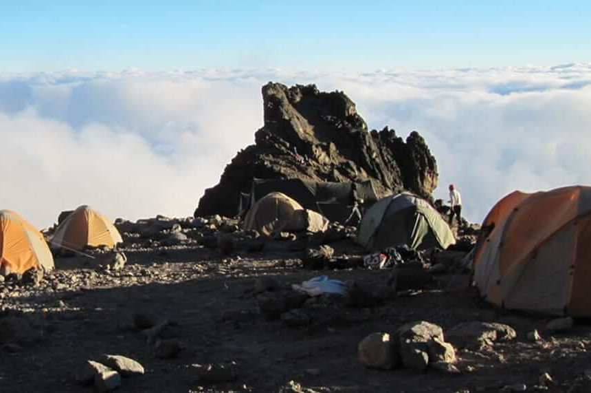Tents camped out on the top of a West Virginia mountain
