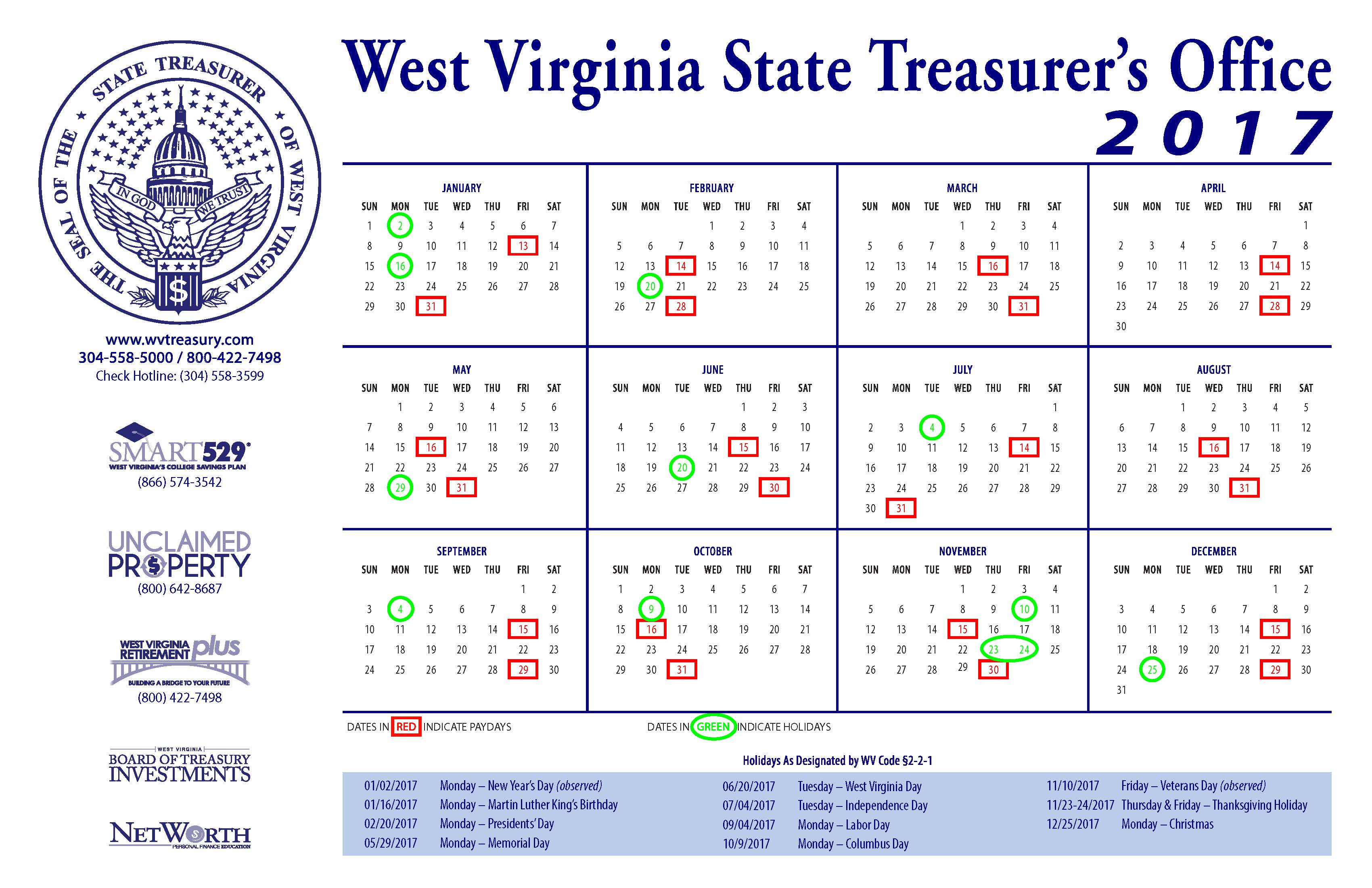 West Virginia State Treasurer S Office Gt About The Office