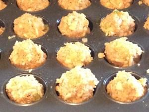 Muffin tin of buffalo chicken quinoa balls