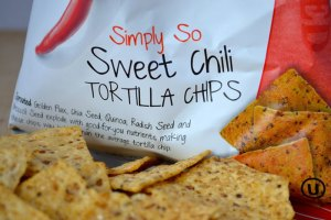 The Simply So Sweet Chili tortilla chips from Way Better Snacks are wonderfully spicy and packed with sprouted grains and seeds.