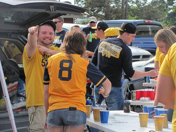 Josh Funk at WVU vs. Oklahoma tailgate